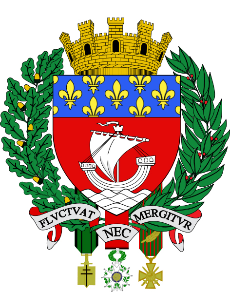 Holiday apartments to rent in Paris, France - Paris Coat of Arms