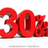 30% Discount 22-29 August 2020