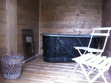 sauna - sauna with separate cloakroom. Session 10 € per session for 2, except in cases of extreme cold.