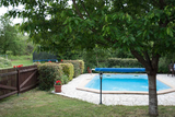 Fully fenced swimming pool with safety alarm0