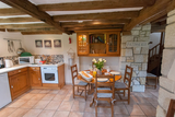 L'Ecurie kitchen with dining area0