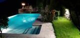 Pool view in Night