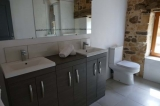 Ensuite for Bedroom One has a double vanity unit