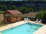 Pool with gazebo - Wooden gazebo for sole the use of the Tobacco Barn with dining table, chairs and BBQ