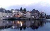 The town of Peyrat Le Chateau on the lake.