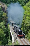 Historic tourist train from Eymoutiers to Limoges and back taking the Limoges-Ussel mountain railway.