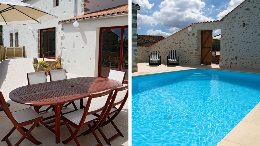 Large Vendee Holiday House with Private Heated Pool in Rural Setting ~ Le Bocage