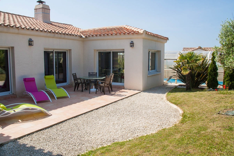 Vendee Coastal Villa to rent with Private Pool, near the beach ~ Villa Pepière