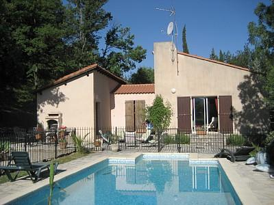 Secluded Soubes Holiday Villa with Pool to rent near Lodeve, Herault, France