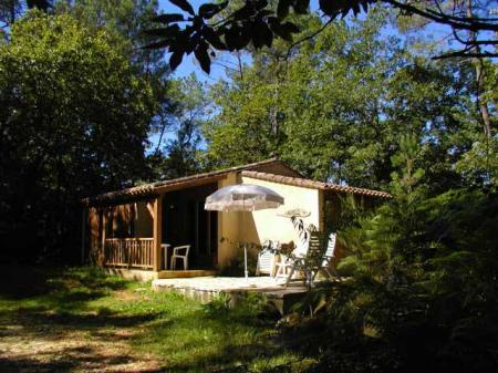 Serene Woodland Holiday Chalet with Pool located in the Dordogne Valley / Le Saule