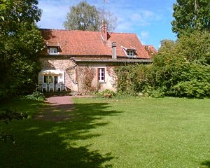 Character Holiday Villa in Manche, Normandy, 4 bedrooms, river frontage, 5kms beach and town