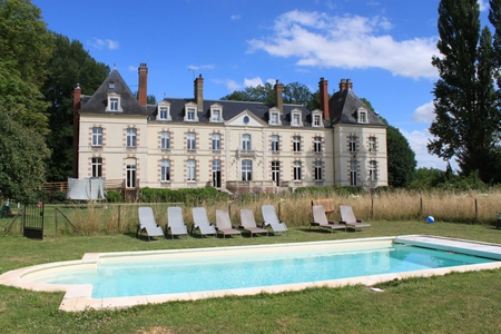 Fantastic Holiday Chateau with Pool in St Florentin, Yonne, France ~ Chateau de Percey