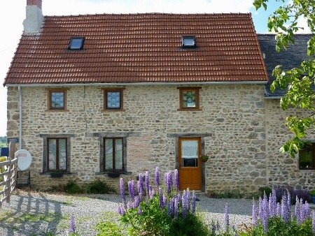 Traditional Creuse farmhouse self-catering, Near Chambon Sur Voueize, France, rural hamlet