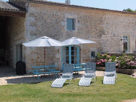 Charente-Maritime Holiday Home with heated pool in St Simon De Pellouaille, France ~ FIRE