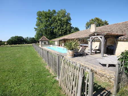 18th Century Converted Holiday Rental with Pool in Ginestet, Dordogne, France