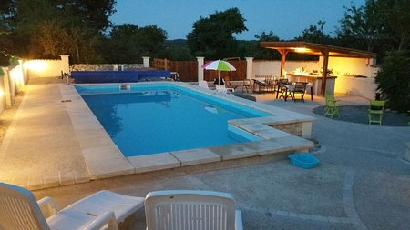 Secluded 3 Bed House with Heated Swimming Pool, Vendee, France - Outdoor Kitchen and Large Garden