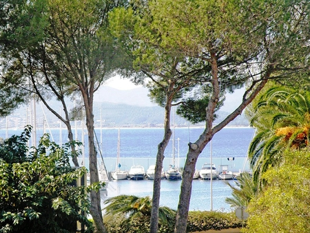 St Raphael Holiday Apartment with Sea view facing the harbor of Santa Lucia