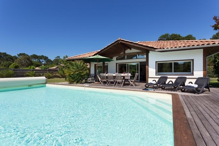 3-bedroom villa with private pool on La Prade domain, Moliets, Aquitaine, South West France