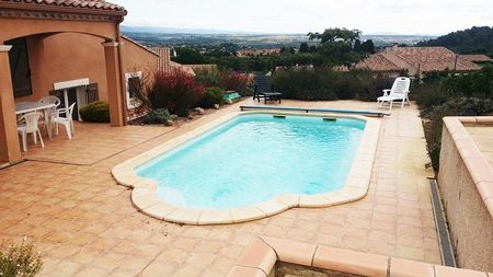5 Star Hillside Villa with Pool, Panoramic Views, in Carcassonne, Languedoc, France