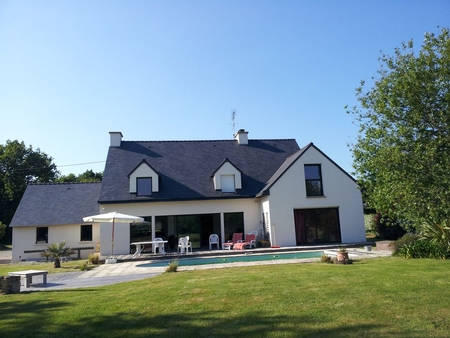 Large house with swimming pool and tennis court situated in a quiet street, France