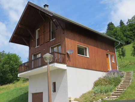 Beautiful 3 bedroom Alpine Chalet in Massif des Bauges Regional Park, Le Chatelard, France with mountain and valley view