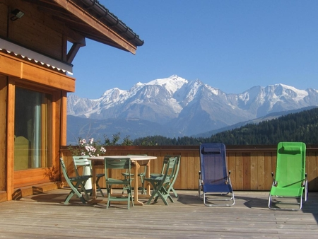 4 Bedroom Ski Chalet Facing Mont-Blanc, Cordon, France - Chalet Silene