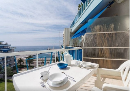 JDV Holidays Apartment Euphorbe 3 - modern with 2 bedrooms and sea views in Nice Port