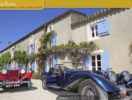 3 Luxury Gites on Banks of Canal Du Midi, Aude Near Carcassonne, France - Le Gabachou