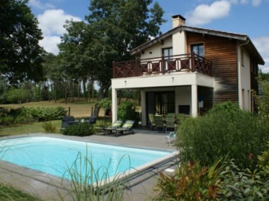 Three bedroom villa with private heated pool on a holiday park with a difference