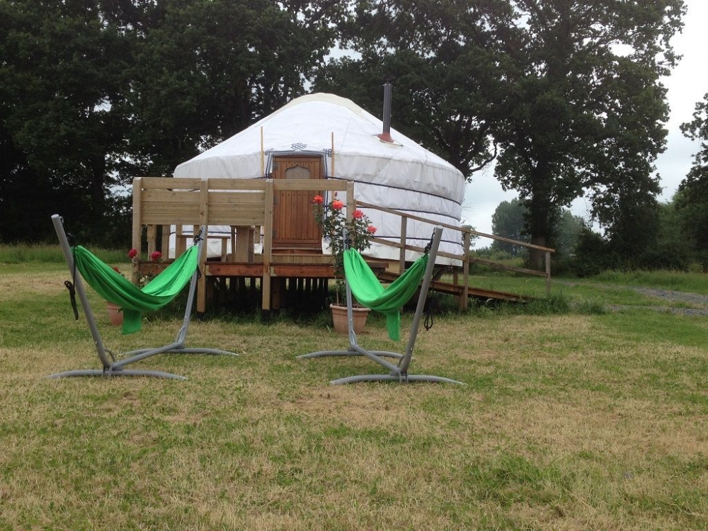 Luxury Mongolian Yurts on Quiet 15 Acre Farm in Saint-Fromond, Normandy