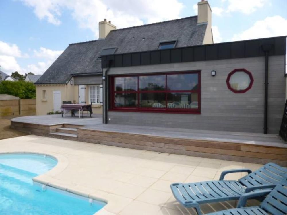 Seafront Brittany Holiday Home in Morbihan, Erdeven - Private Garden and Heated Pool