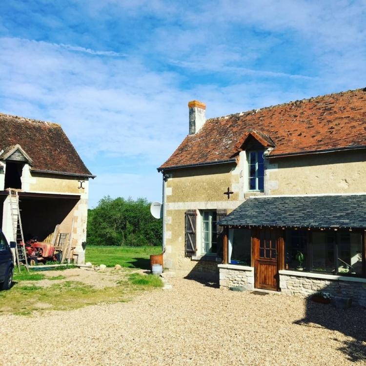 Beautiful French Farmhouse Le Chatelier near Paulmy, Indre-et-Loire - La Jacquetiere