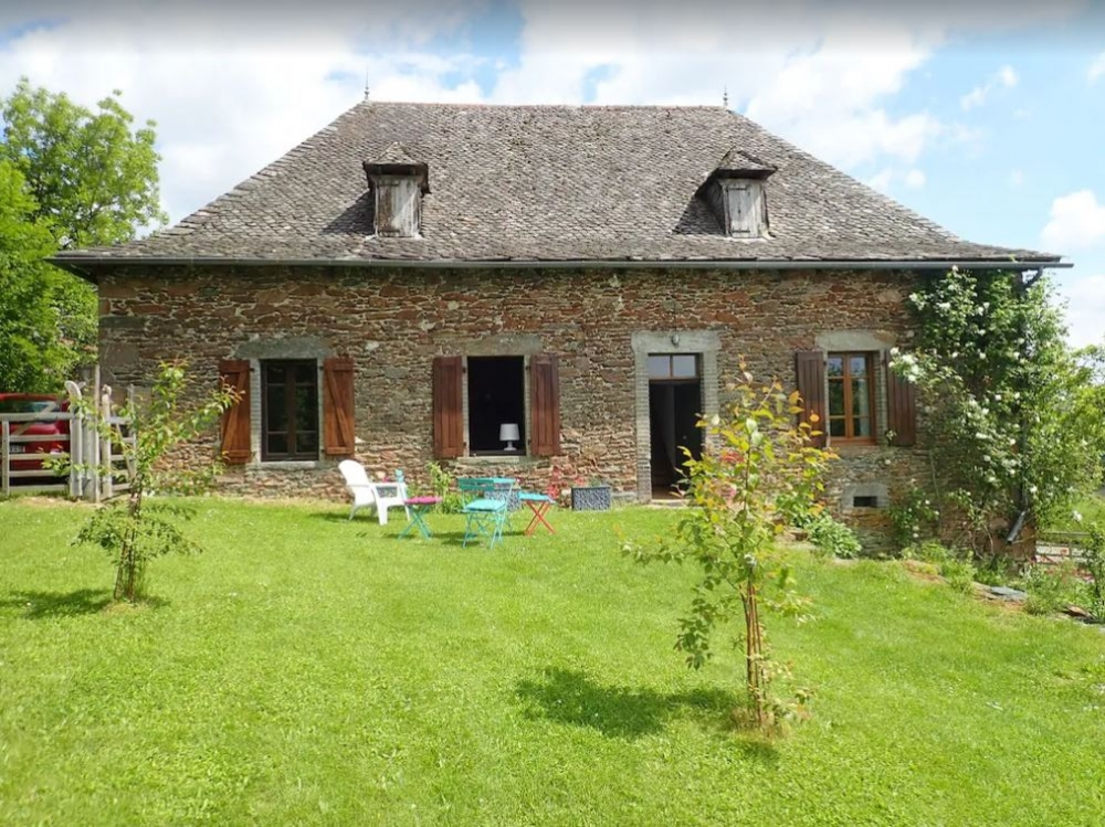 Spacious Farmhouse Rental in Southern Auvergne, Private Pool and Wonderful Views