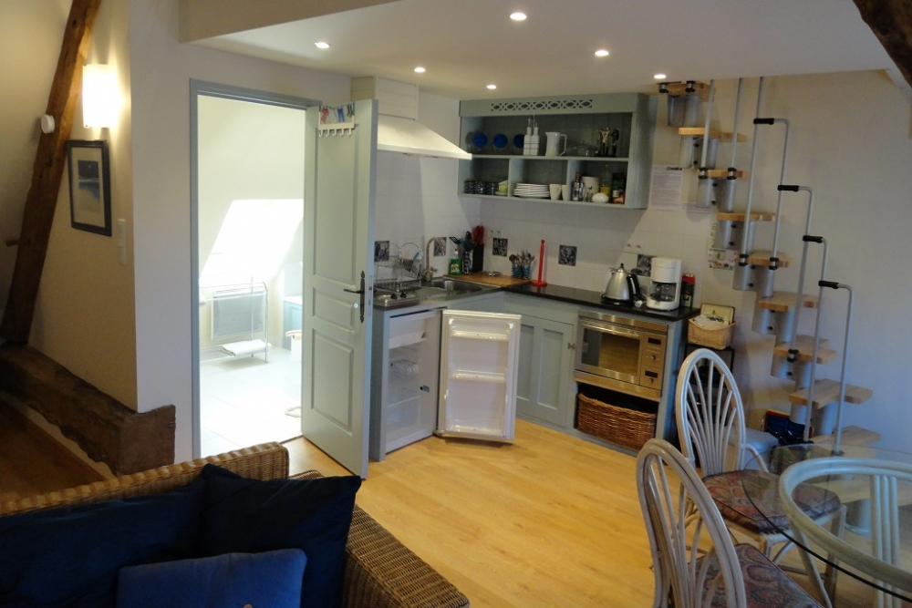 Self Catering Apartment to Rent in Saint-Ouen-La-Rouerie, Brittany - The Studio Apartment