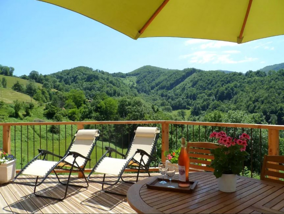 Perfect Nature Retreat Near Saint Girons, Midi Pyrenees, France - Le Coucou Gite, Panoramic Views