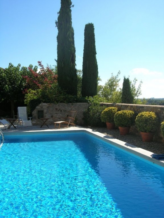 Beautiful South Facing House with Private Pool in La Bastide-d'Engras, Near Uzes, Gard