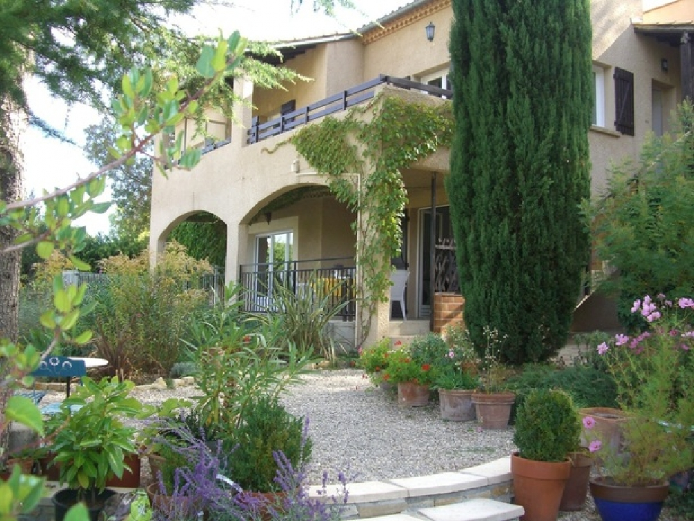 Luxury Half Villa Rental with Swimming Pool in Lodeve, Herault - Stunning Panoramic Views