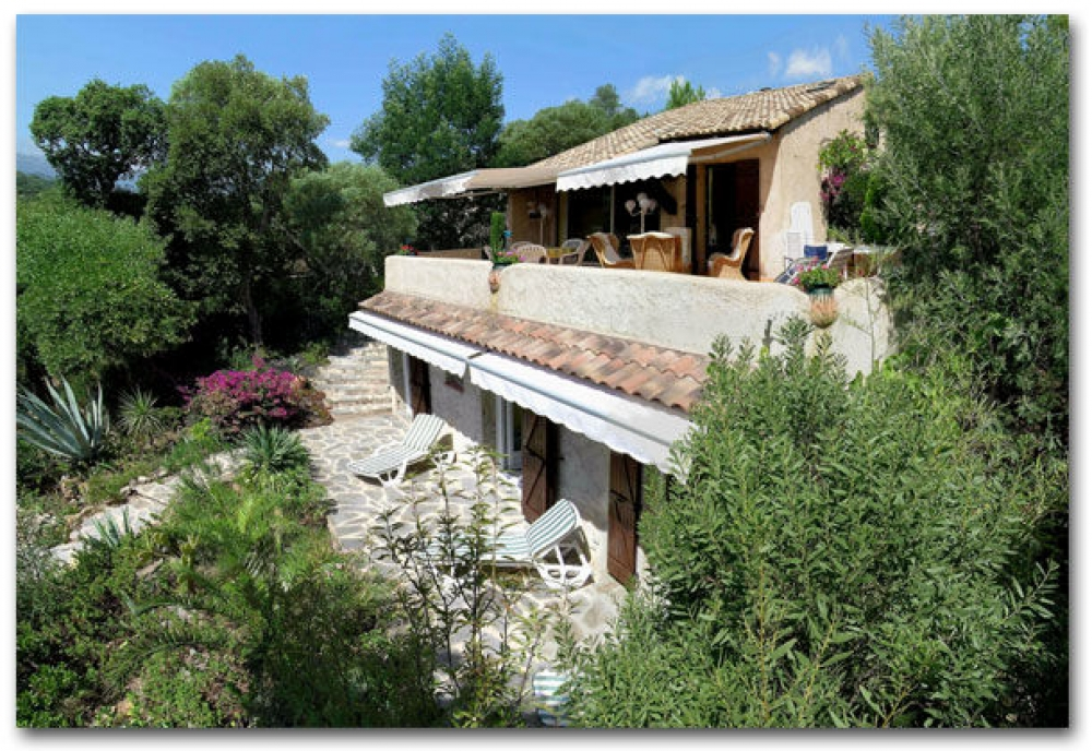House with Private Garden and Panoramic Views of Pinarello Bay, Porto Vecchio, Corsica