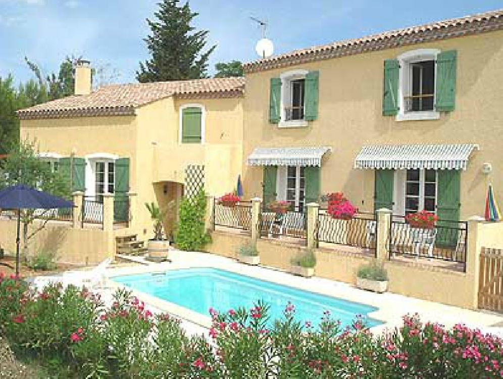 Two Apartments with Shared Pool in the Village of Magalas near Beziers, Languedoc