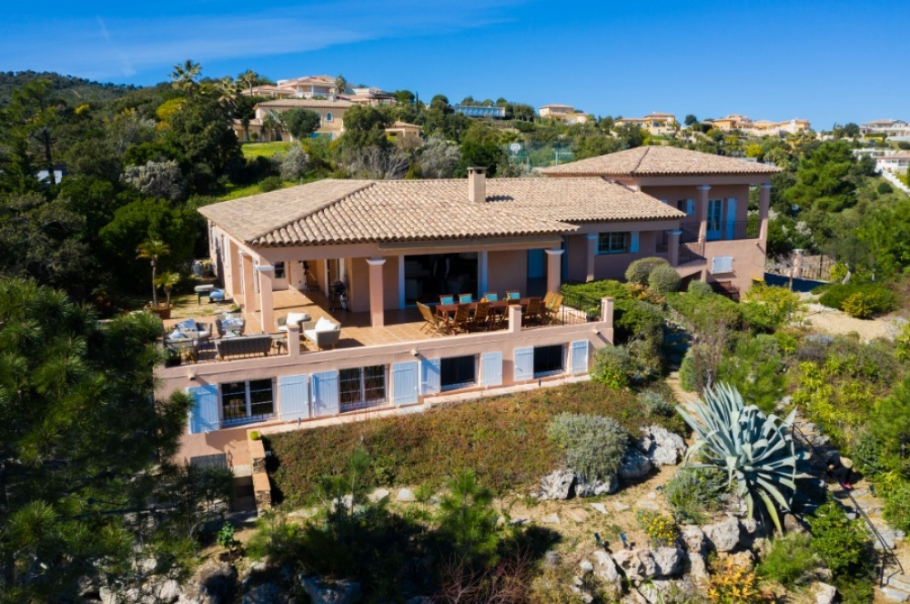 Villa Mediterranee at the French Riviera with stunning sea view