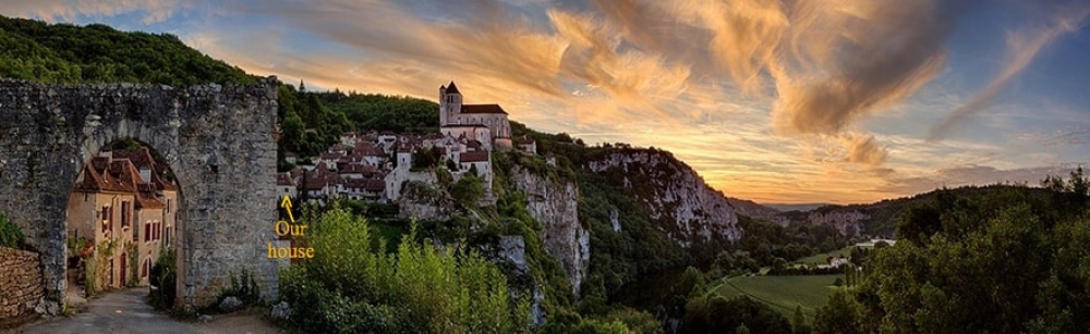 Beautiful Medieval House in St. Cirq Lapopie, Lot, Tarn-et-Garonne, Midi-Pyrénées