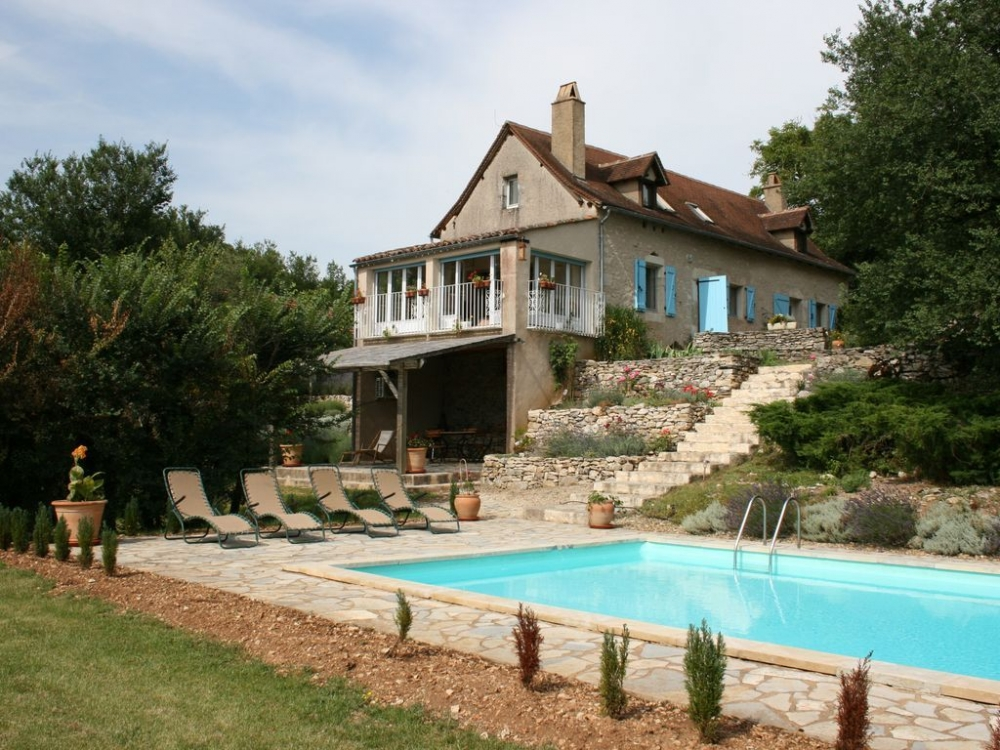 Charming Cottage With Pool and Panoramic Views in Montbrun, Lot - La Paregude