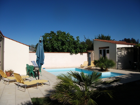 Detached self catering villa rental with pool near La Tranche sur Mer, Vendee, France
