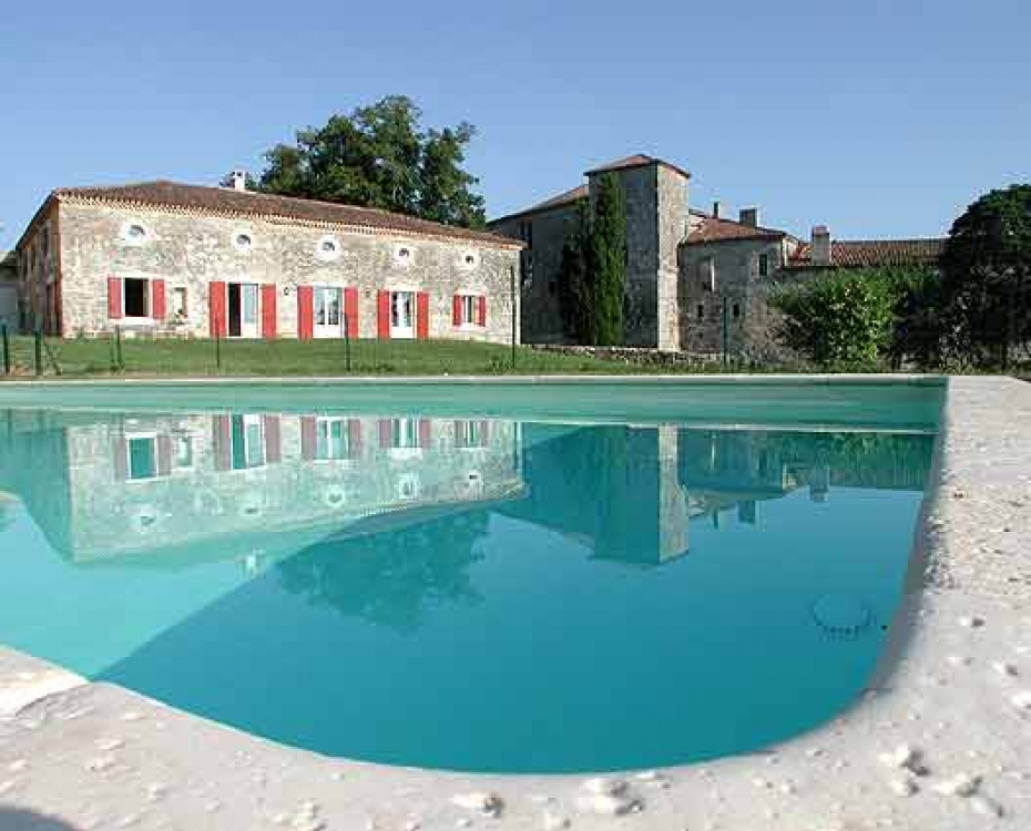 Fantastic Holiday Home in Poudenas, Near Fources - Chateau de Poudenas