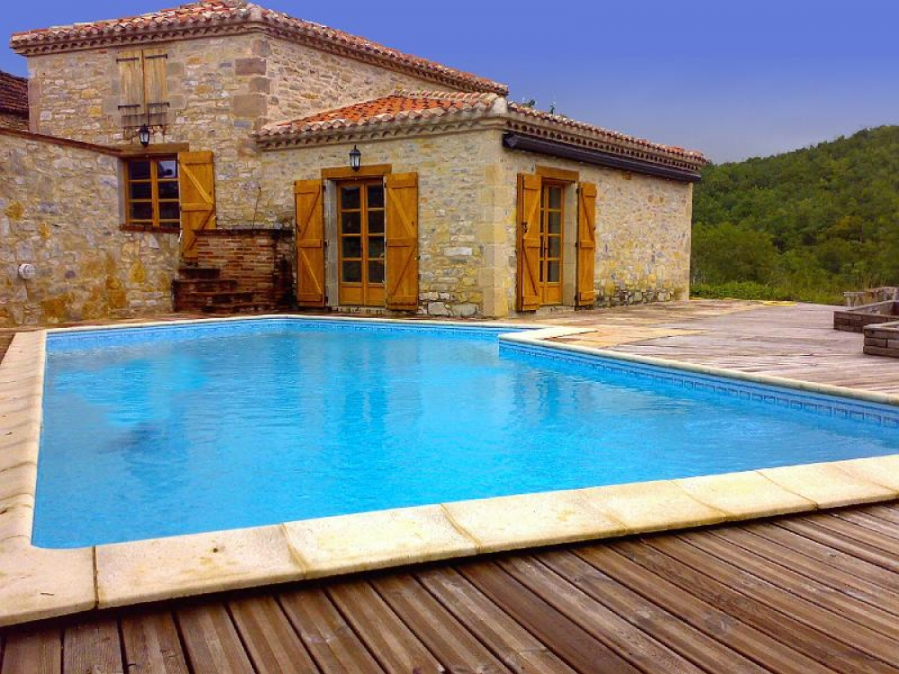 Beautiful House with Swimming Pool in Vaour, Near St Antonin, Tarn