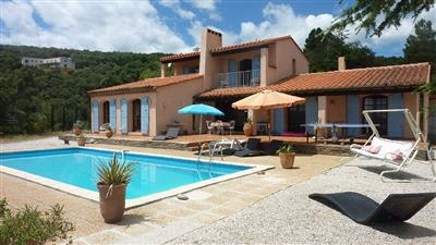 Catalan style house with pool to rent in Oms, near Ceret, the foothills of the Pyrenees